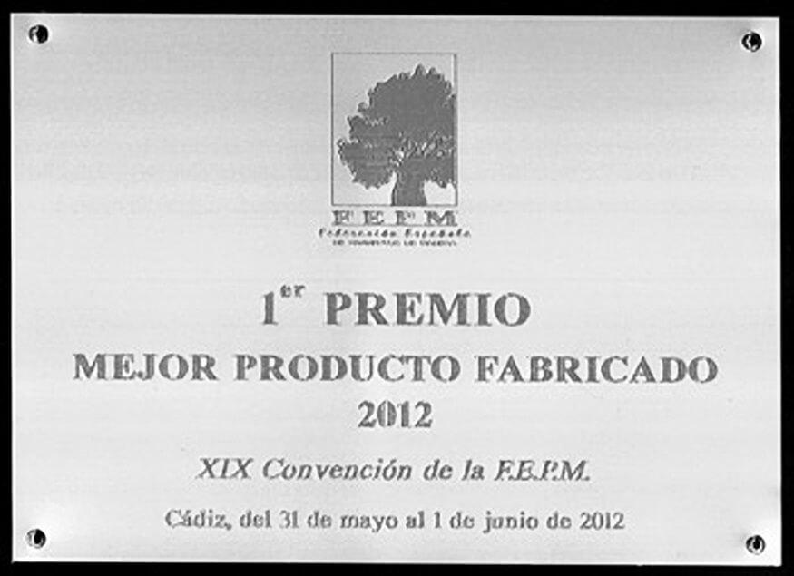 premio a mejor producto fabricado